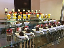 This is some of the delicious sweets at the above hotel