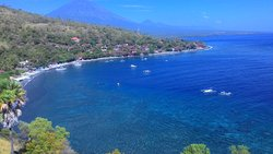 Jemeluk Bay, one of the famous dive site and sunset spot in Amed
