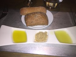 Two olive oils with Egyptian spice mix dukkah