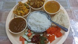 Unassuming place, nice homely Gujarati food...