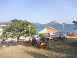 Ethnic beach bar