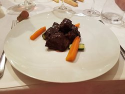 Sirloin of veal, braised in Barolo wine sauce