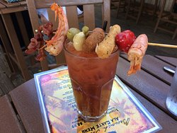 Great Brunch and Bloody Mary bar!