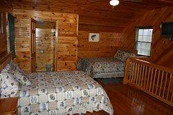 Cabin 8 upstairs with half bath