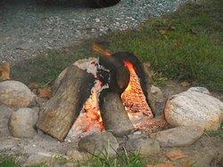 Broken down fire pit