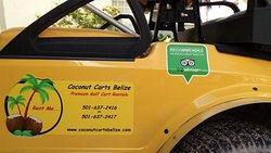 Coconut Carts Belize #1 Rated Cart Company and Recommended by Trip Advisor!