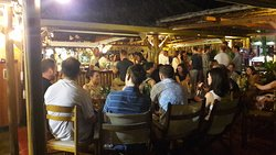 Mistrali beach bar by night!