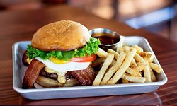 Delicious burger for lunch or dinner at Beardslee