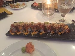 Fire Bomb Sushi and spicy tuna, both were excellent! The FBS was just the right amount of hot.