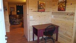 Two bedroom Cabin: Mudroom/Desk Area