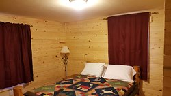 Two bedroom Cabin: Bedroom with Queen Bed