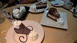 Vanilla bean, Godiva, Tuxedo, and Charlie's (I think) Outrageous