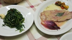 Cicoria and Saltimbocca