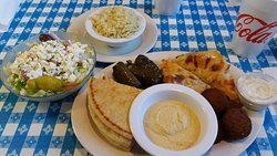 Vegetarian Platter from The Mad Greek Restaurant in Kernersville, NC