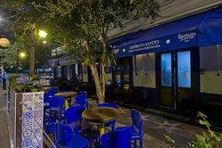 Parklet - ambiente charmoso com os azuleijos portugueses