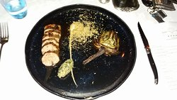 Karoo Lamb with a grilled artichoke - excellent