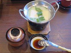 湯豆腐と豚汁