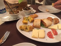 The best dinner of our trip in Sicily!