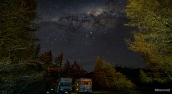 Milkyway at the camping ground at Glentanner Park Centre