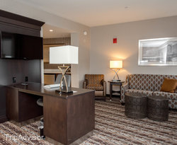 The King Bed Suite at the Hampton Inn & Suites Portsmouth Downtown