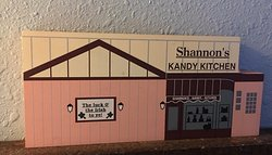 Replica of the front of the Shannon's Kandy Kitchen Store