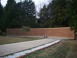 Memorial wall located on the north side of the museum.
