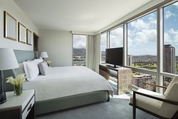Our Waikiki Beach resort's Grand Three Bedroom Suite - Master Bedroom offers stunning views.