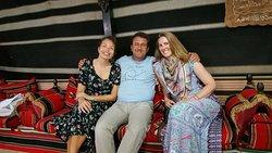Happy tourist at Deretna