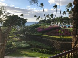 Some of the fabulous views at Mauna Kea beach resort. Outstanding service and good food, best be