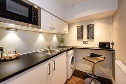 One of our studio mini kitchens