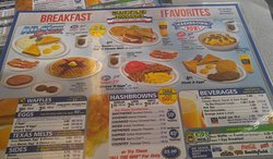 This waffle house is 24 hrs great food