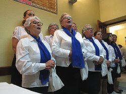 Acapella Singers at Cafe Rabino's