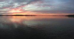 Fall sunset on Lake Margrethe
