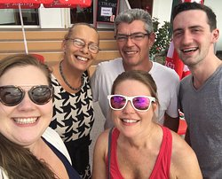 We couldn't help but take a group selfie with the lovely couple who owns the restaurant.