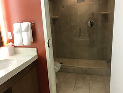 toilet and shower in separate room.