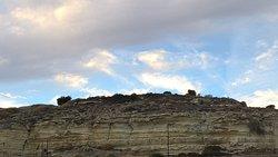 Panorama van Kourion archeologische site.