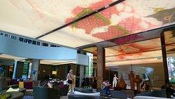 Nice lobby.....love the ceiling