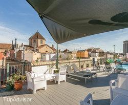 The Pool with Terrace at the Leonardo Hotel Barcelona Las Ramblas