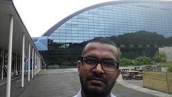 Big glass building