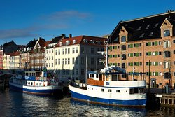 View of 71 Nyhavn Hotel from across the Nyhavn canal