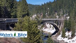 Beautiful Rainbow Bridge on Hwy 55.  Come stay at the Ashley Inn until we open Apr 25th