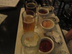 Beer and Oyster Sampler