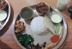 Fish Thakali khana set (dal bhat)
