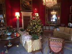The Octagon Room dressed for Christmas