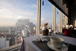 最上階のレストランからの風景
