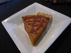 Pumpkin Pie with Caramel Sauce (declined whipped cream)