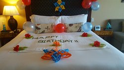 Hotel decorated the room for my birthday