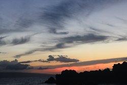 Black Rock, at sunset.