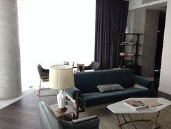 Living Room in Double Corner King Room