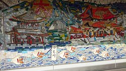 京都駅月台壁畫